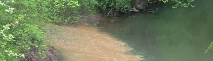 Muddy Water Entering Big Canoe Creek