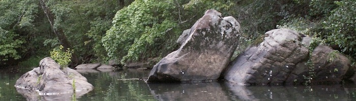 Rocks in Big Canoe Creek